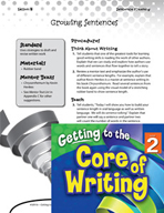 Writing Lesson Level 2 - Growing Sentences