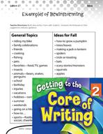 Writing Lesson Level 2 - Ideas Thinking Chart