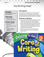 Writing Lesson Level 2 - My Writing Folder