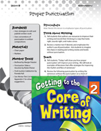Writing Lesson Level 2 - Proper Punctuation