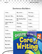 Writing Lesson Level 2 - Super Sentence Stems