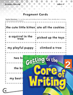 Writing Lesson Level 2 - Writing Complete Sentences