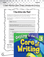 Writing Lesson Level 3 - Author Mentors