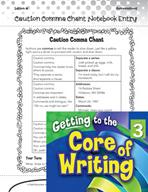 Writing Lesson Level 3 - Caution Comma Chant