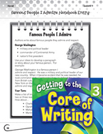 Writing Lesson Level 3 - Famous People I Admire