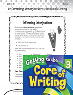 Writing Lesson Level 3 - Informing Interjections