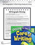 Writing Lesson Level 3 - Informing Paragraphs