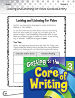 Writing Lesson Level 3 - Looking and Listening for Voice