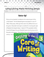 Writing Lesson Level 3 - Using Editing Marks
