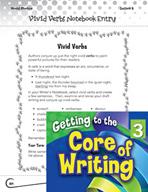 Writing Lesson Level 3 - Vivid Verbs