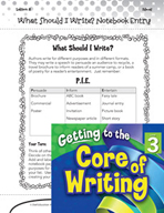 Writing Lesson Level 3 - What Should I Write?