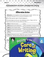 Writing Lesson Level 4 - Alliteration Action