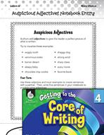 Writing Lesson Level 4 - Auspicious Adjectives