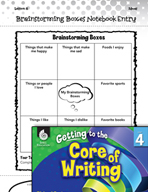 Writing Lesson Level 4 - Brainstorming Boxes