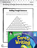 Writing Lesson Level 4 - Building Triangle Sentences