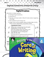 Writing Lesson Level 4 - Capital Creations