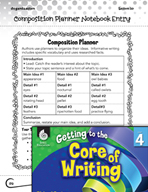 Writing Lesson Level 4 - Composition Planner