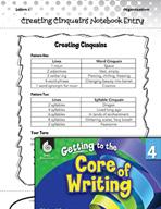 Writing Lesson Level 4 - Creating Cinquains