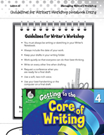 Writing Lesson Level 4 - Guidelines for Writer's Workshop