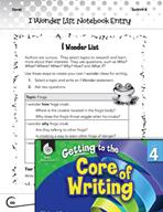 Writing Lesson Level 4 - I Wonder List for Writing Ideas