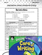 Writing Lesson Level 4 - Narrative Notes