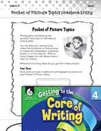 Writing Lesson Level 4 - Pocket of Picture Topics for Writing