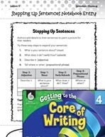 Writing Lesson Level 4 - Stepping Up Sentences