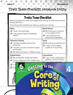 Writing Lesson Level 4 - Traits Team Checklist