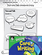 Writing Lesson Level 4 - Turn and Talk with Writing