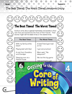 Writing Lesson Level 4 - Writing about the Best Times and Worst Times!