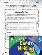 Writing Lesson Level 5 - A Purposeful Voice
