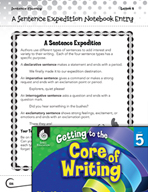 Writing Lesson Level 5 - A Science Type Expedition