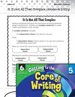 Writing Lesson Level 5 - Complex Sentences
