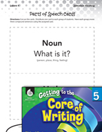 Writing Lesson Level 5 - Five Parts of Speech in Sentences