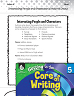 Writing Lesson Level 5 - Interesting People and Characters