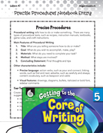 Writing Lesson Level 5 - Precise Procedures and How-tos