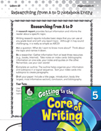 Writing Lesson Level 5 - Researching from A to D