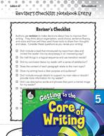 Writing Lesson Level 5 - Reviser's Checklist