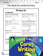 Writing Lesson Level 5 - The Super Six Strategies of Spelling