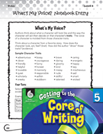 Writing Lesson Level 5 - What's My Voice?