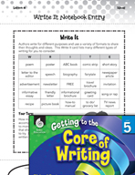 Writing Lesson Level 5 - Writing Formats