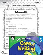 Writing Lesson Level 5 - Writing Ideas through a Treasure List