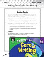 Writing Lesson Level 6 - Adding Details