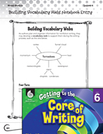 Writing Lesson Level 6 - Building Vocabulary Webs