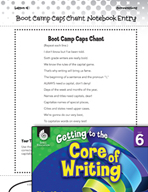 Writing Lesson Level 6 - Capitalization Chants
