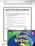 Writing Lesson Level 6 - Double Trouble with Compound Elements