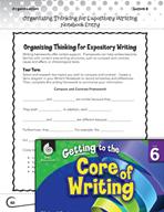 Writing Lesson Level 6 - Organizing Thinking for Expository Writing
