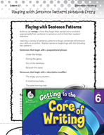 Writing Lesson Level 6 - Playing with Sentence Patterns