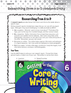Writing Lesson Level 6 - Researching from A to D