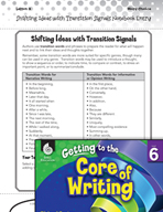 Writing Lesson Level 6 - Shifting Ideas with Transition Signals